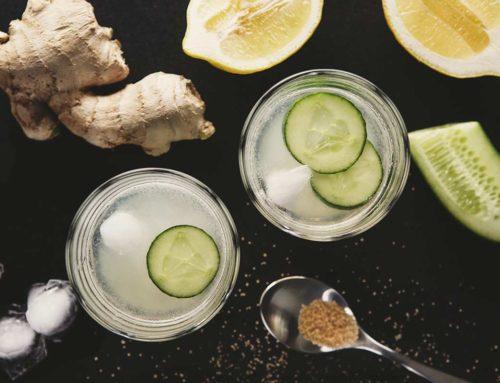 Lemoniada z ogórkiem i imbirem