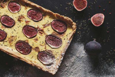 Quiche z figą i szynką parmeńską