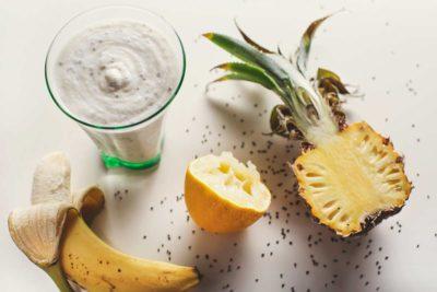 Smoothie z chia i mlekiem kokosowym