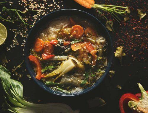 Zupa z kapustą Pak Choi