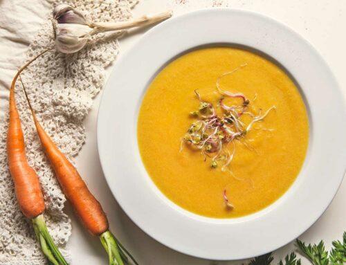 Zupa krem z marchewki z kiełkami