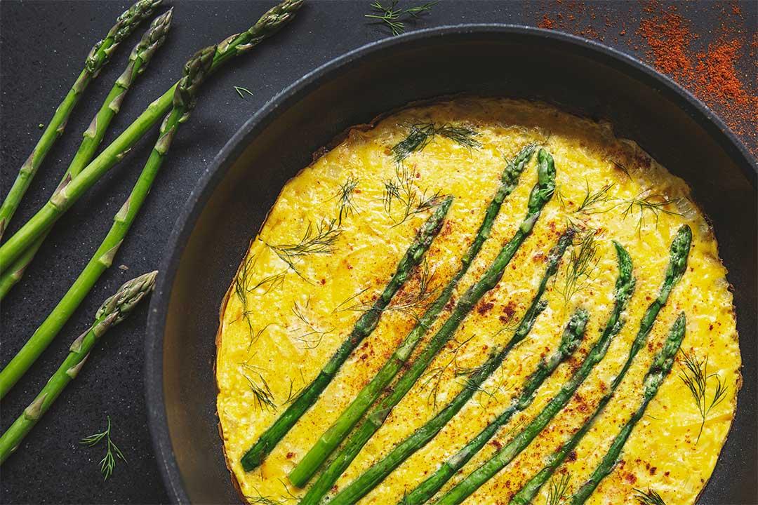 Absolutnie dobre - Omlet ze szparagami