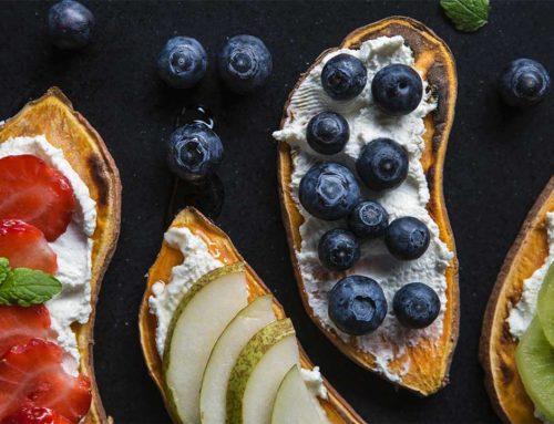 Tosty z batata z owocami