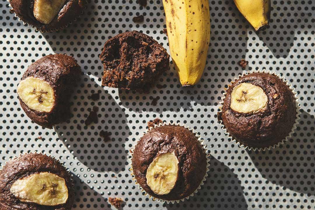 Absolutnie dobre - Muffiny czekoladowo -bananowe