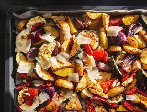 Pieczone warzywa z parmezanem