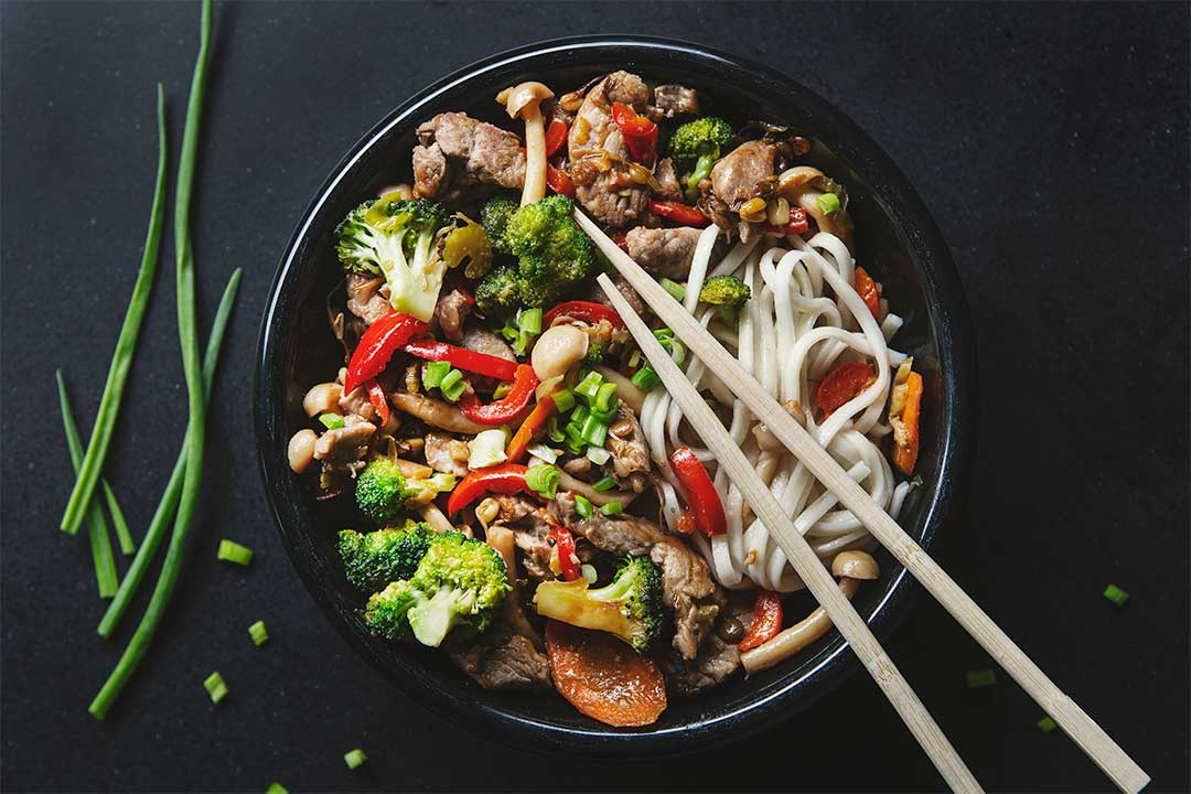 Absolutnie dobre - Polędwica wieprzowa z warzywami po chińsku