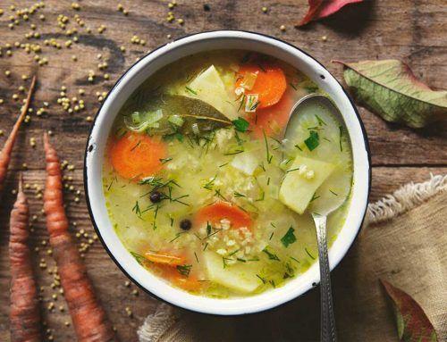 Zupa jarzynowa z kaszą jaglaną
