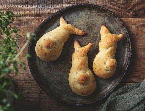 Drożdżowe, cytrynowe króliczki z makiem
